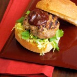 duck slider with fig ketchup