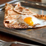 Egg Filled Buckwheat Pancake