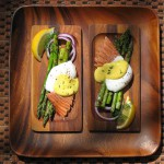 eggs with asparagus and mustard sauce