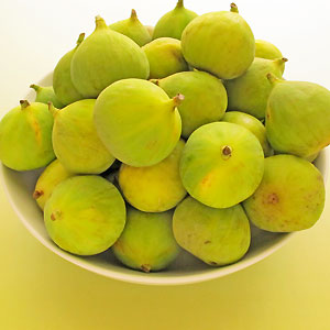 bowl of green figs