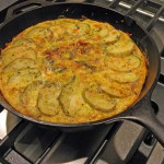 Frittata with Mustard Greens, Pancetta and Potatoes