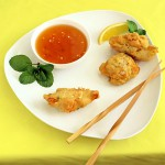 Geoduck Fritters with Sweet Chili Sauce
