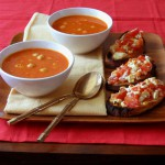 Spicy Chickpea Stew with Tomato Feta Toasts