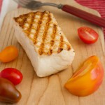 Grilled Alaskan wild halibut