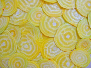 sliced yello golden beets
