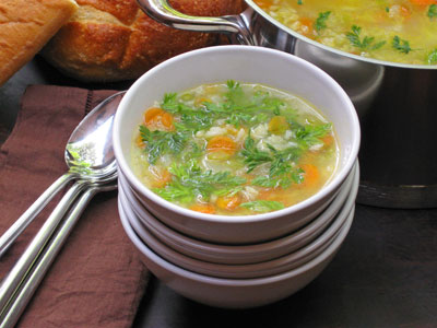 This is my entry in The Souper Soup Challenge Carrot Top Soup
