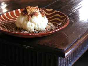 cauliflower with breadcrumbs