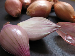shallots prepped