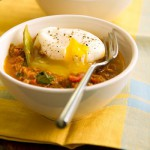 Curried Lamb Hash with Poached Egg