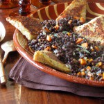 savory french toast with lentils