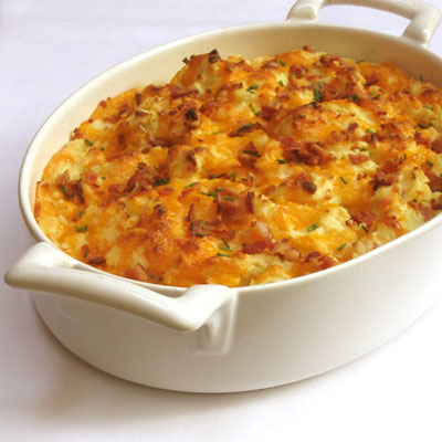 bacon cheddar baked mashed potatoes