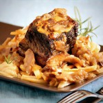 Ale-Braised Mustard-Glazed Short Ribs with French Fries