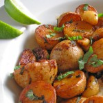 Garlic New Potatoes with Lemongrass and Mint
