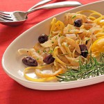 Onion Pasta with Olives, Lemon &amp; Rosemary