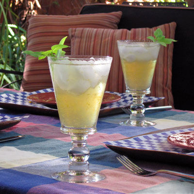Orange Basil Rum Punch