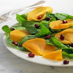 Fuyu Persimmon Salad with Arugula & Pomegranate