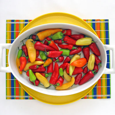 assortment of peppers