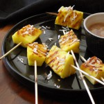 Grilled Pinapple Satays with Spiced Coconut Caramel