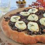 Caramelized Balsamic Onion Pink Peppercorn Pizza with Rosemary & Goat Cheese