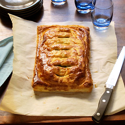 ... simple but flavorful filling in Martha Stewart's Alsatian Potato Pie