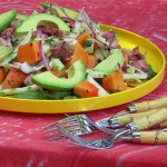 Tropical Papaya, Avocado and Pulpo Salad