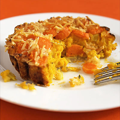 Savory Pumpkin and Carrot Tart