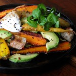 Spicy Roasted Carrot, Goat Cheese &amp; Avocado Salad