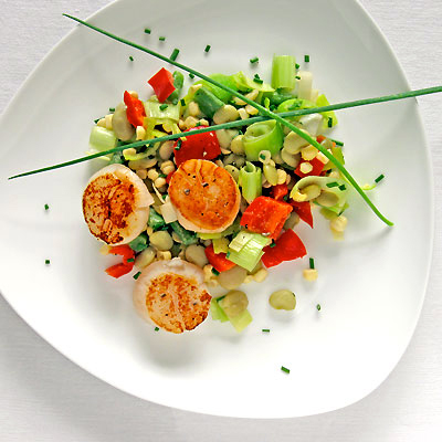 SippitySup Seared Scallops with Succotash - SippitySup