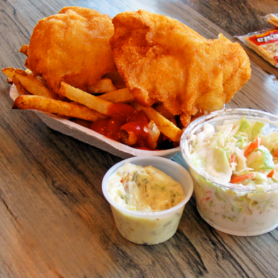 Sippitysup spud fish chips on alki beach good as it for Spuds fish and chips