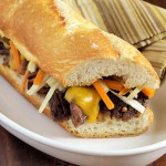 Ale-Braised Short Rib Sandwich with Horseradish &amp; Pickled Vegetable Relish