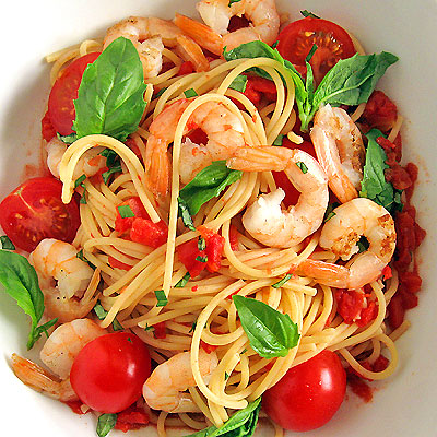 ... Default Pasta: Two Tomato Pasta with Spicy Shrimp - SippitySup