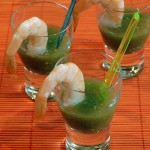 Shrimp Cocktail & Tomatillo Gazpacho Shooters