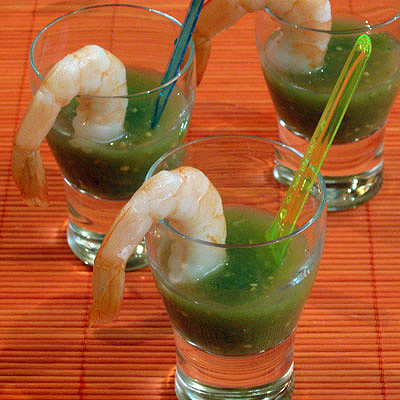 ... & spicy tomatillo gazpacho. They make a light and festive appetizer