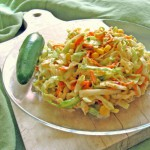 creamy southern style spicy coleslaw