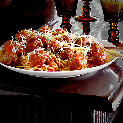 American-Style Spaghetti and Meatballs - SippitySup