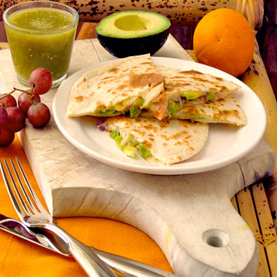 Squash Blossom Quesadillas from Sippity Sup
