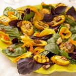 Purple Basil &amp; Grilled Summer Squash Salad with Walnuts