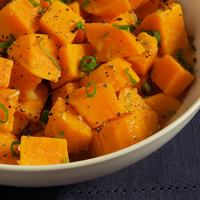sweet potato salad with lime and chili oil