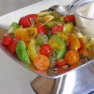fruit and tomato salad