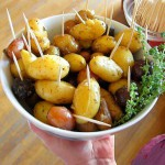 Roasted baby potatoes with truffles from Sippity Sup