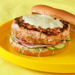 Yellowfin Tuna Burger with Japanese Cucumber Relish &amp; Wasabi Aioli