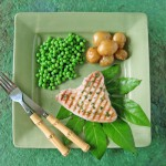 tuna with savory mint sauce