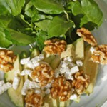 Avocado Walnut Chevre Salad with Watercress
