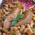 Italian Sausages with White Beans and Radicchio