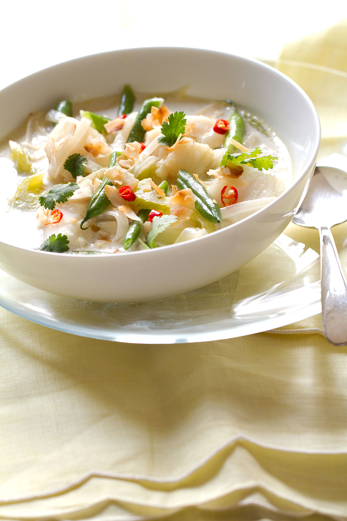 Coconut and Asian-Spiced Fish Chowder - SippitySup