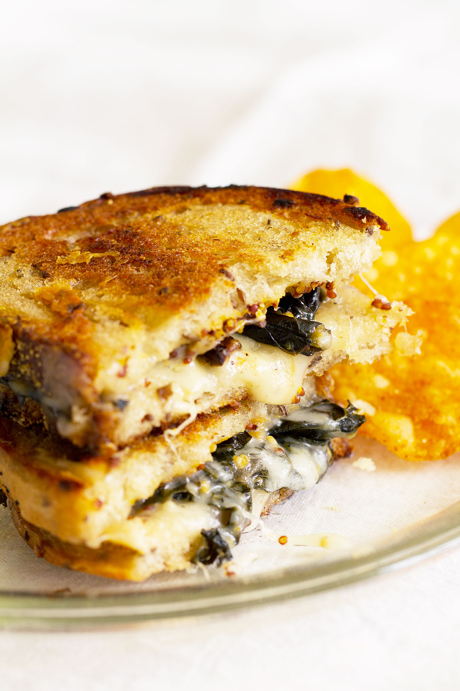 Easy Grilled Cheese Sandwich with Mushrooms and Kale ...